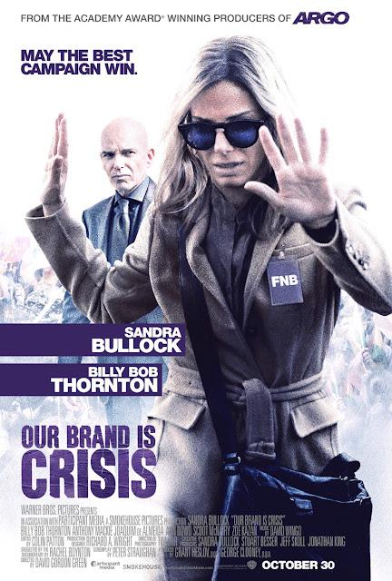 Póster y tráiler de 'Our brand is crisis', con Sandra Bullock y Billy Bob Thornton
