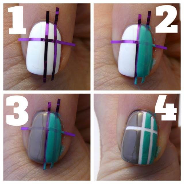 Striping Tape Nail Art Tutorial: Casa De Polish: Geometric Nails