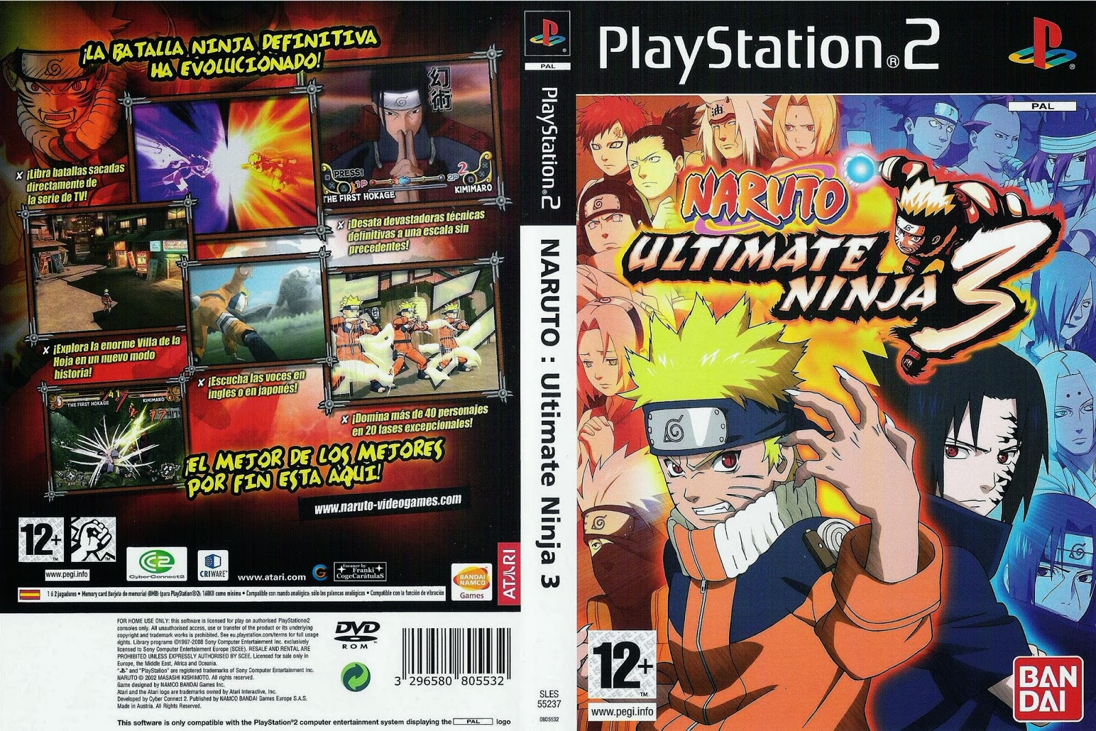 Naruto+PS2+Ultimate+Ninja+6 Ultra Capas: Naruto Ultimate Ninja 3 ...