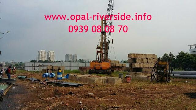 tiến độ thi công chung cư Opal Riverside