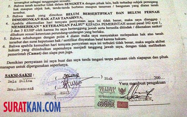 Contoh Surat Perjanjian Jual Beli Tanah Doc Suratkan Com