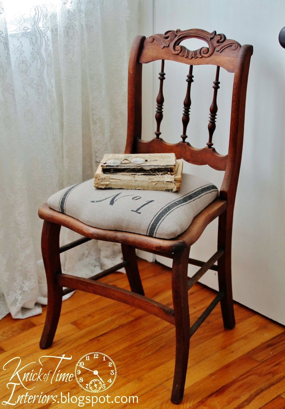 I knew just what my little chair needed to be beautiful again! - Homeroad: Antique Spindle Chair