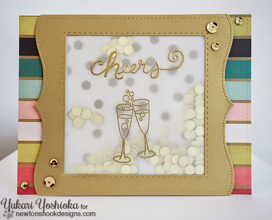 Cheers Shaker Card by Yukari Yoshioka |  Years of Cheers stamp set by Newton's Nook Designs