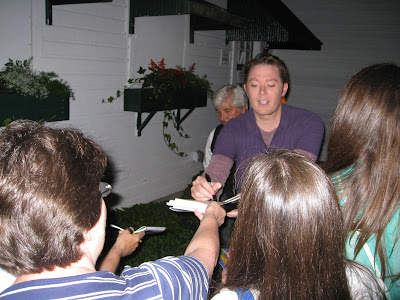 Clay Aiken signing my copy of his book