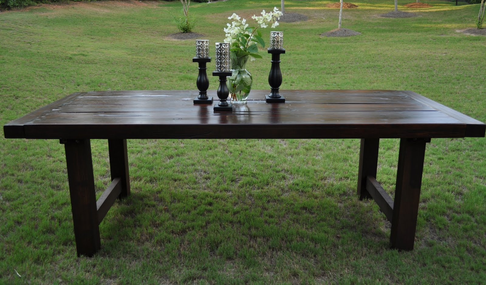 NEW The Clayton Dining Table Rustic Distressed Java Cherry - Distressed dark wood dining table