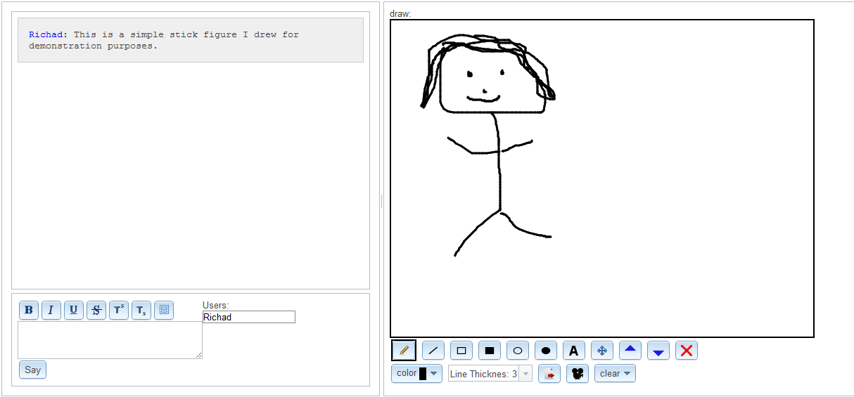 Free technology for teachers draw it live a simple for Stuff to draw on a whiteboard