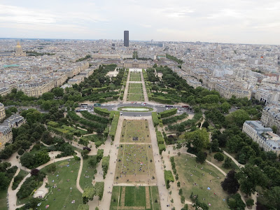 Champ de Mars and Montparnasse view, The Eiffel Tower, La Tour Eiffel, Paris, France www.thebrighterwriter.blogspot.com