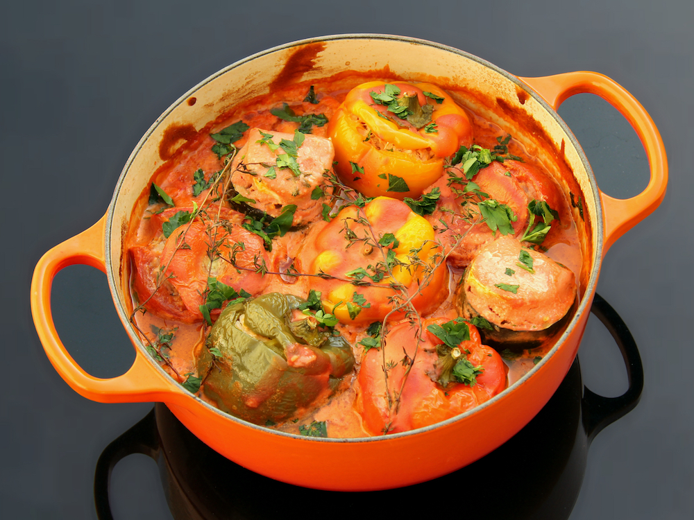 Stuffed Peppers, Tomatoes, and Summer Squash | Ardei, Rosii, si Dovlecei Umpluti