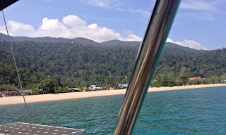 Tioman Island Malaysia from our anchorage during our sailing adventures