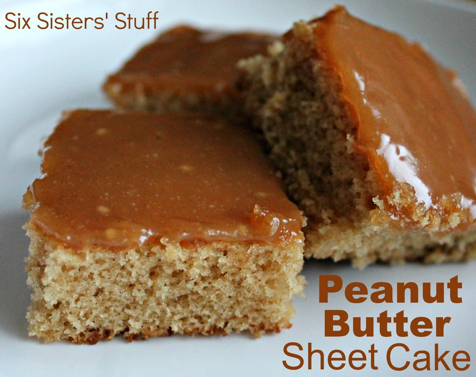 Peanut Butter Sheet Cake | Six Sisters' Stuff