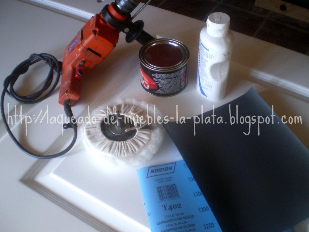 Como hacer un pulido en muebles laqueados para dar brillo o mejorar la terminacion muebles de - Pulir aluminio a espejo ...