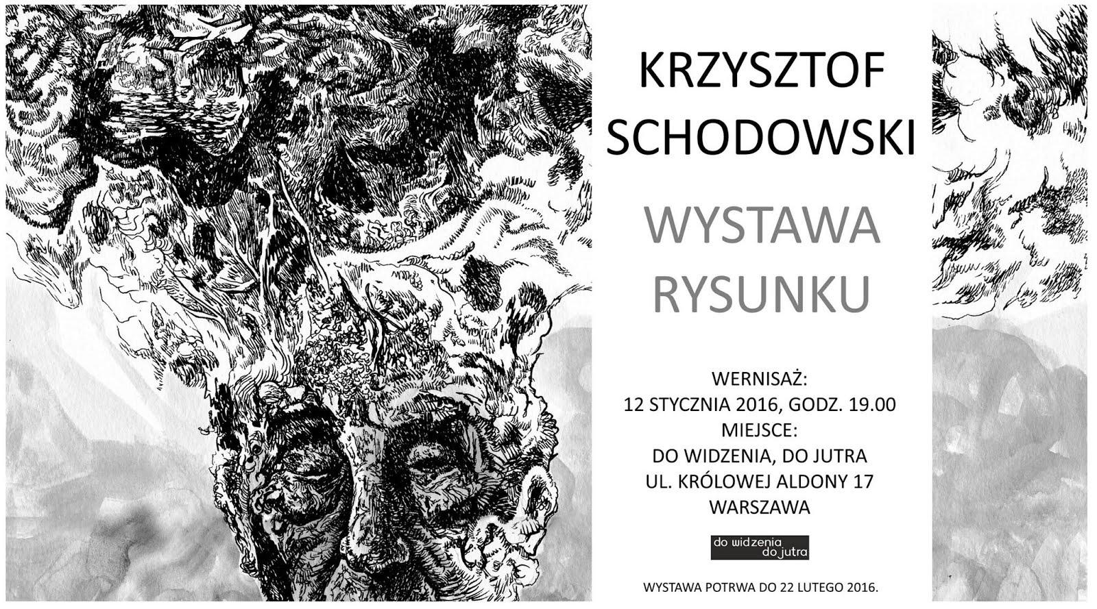 Otwarcie wystawy rysunków Krzysztofa Schodowskiego