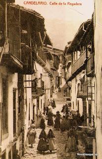 Candelario Salamanca calle de la regadera en los años 30 del siglo XX