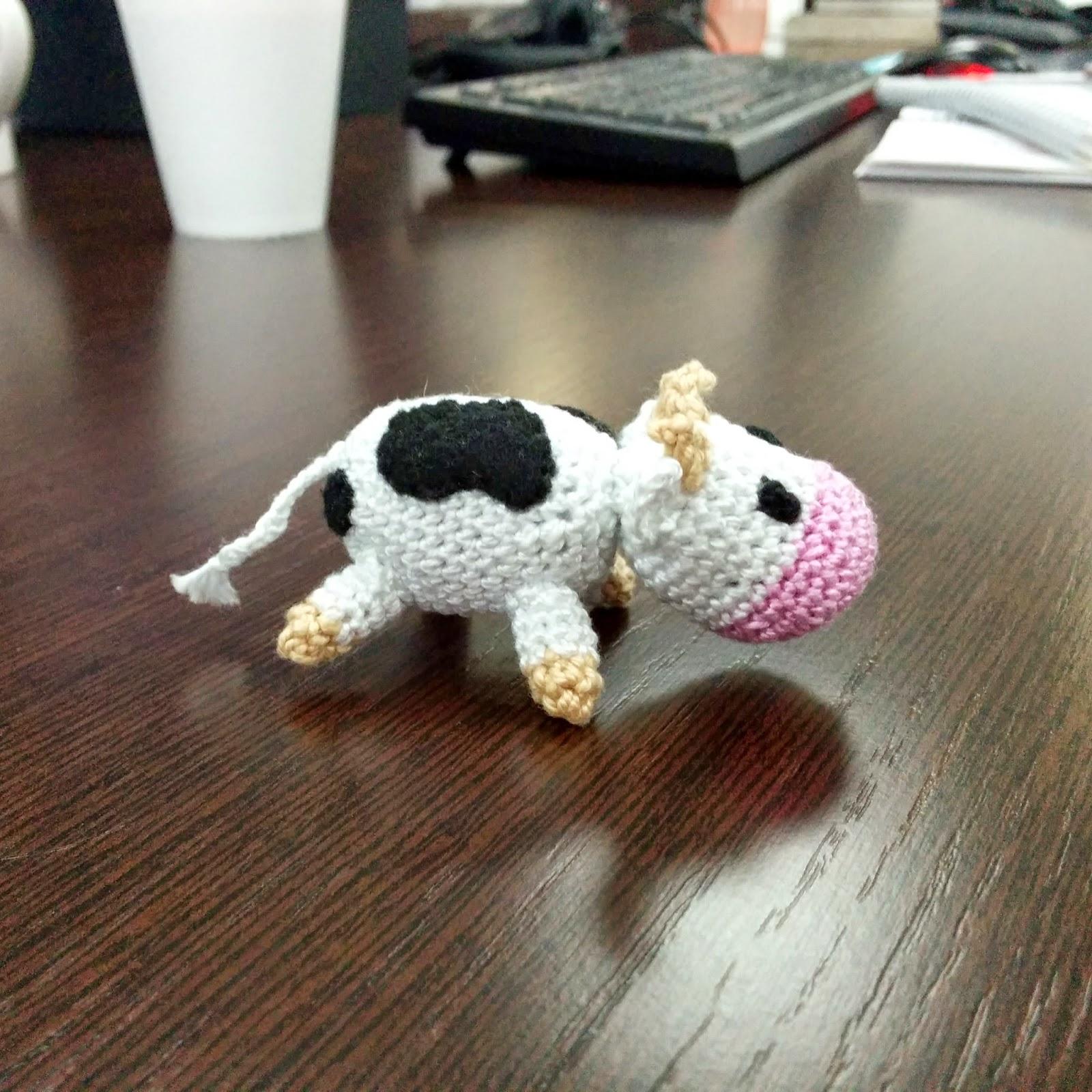 Hacer Vaca Amigurumi : Los chiribiquis de Winga: Vaca amigurumi