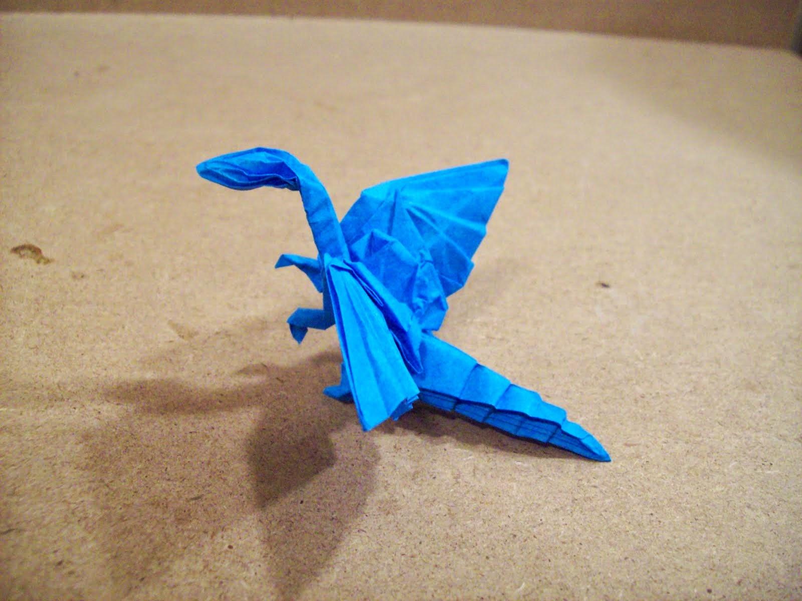 make origami flying dragon