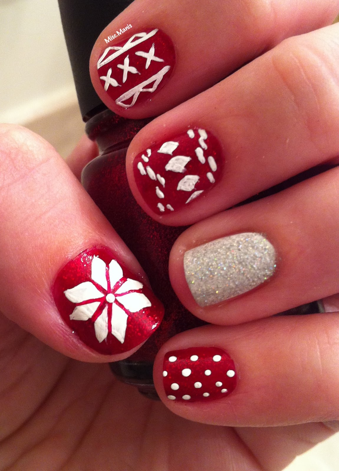 Miscellaneous Manicures: Fair Isle Nails