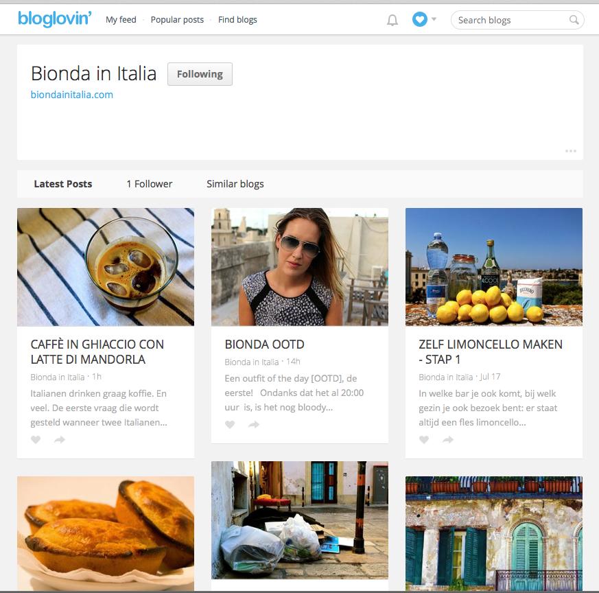 Bionda in Italia op Bloglovin