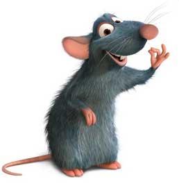 tikus, rumah, imut, vector