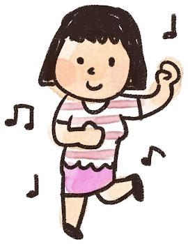 ダンスのイラスト「踊っている女の子」