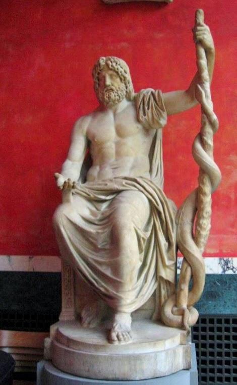 Esculapio, dios griego de la medicina