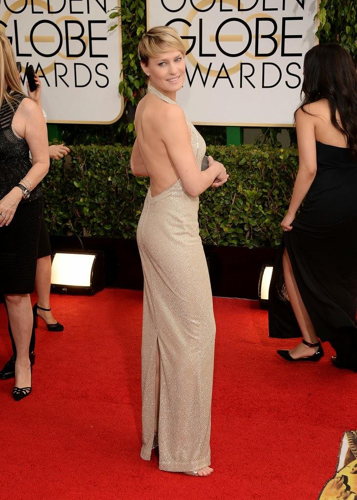 Celeb Diary: Robin Wright & Ben Foster @ 2014 Golden Globe ...