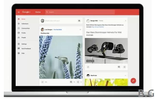desain tampilan terbaru google plus