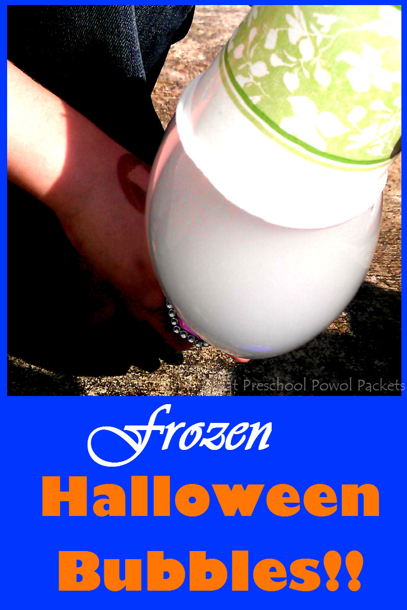Frozen Halloween Ghost Bubbles Science Experiment ...