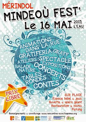 Affiche du festival de Mérindol : Mindeoù Fest' 2015