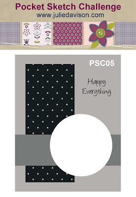 PSC05 Pocket Sketch Challenge #5: Card Layouts to Inspire your card-making + Play along for a chance to win free card layout book! www.juliedavison.com