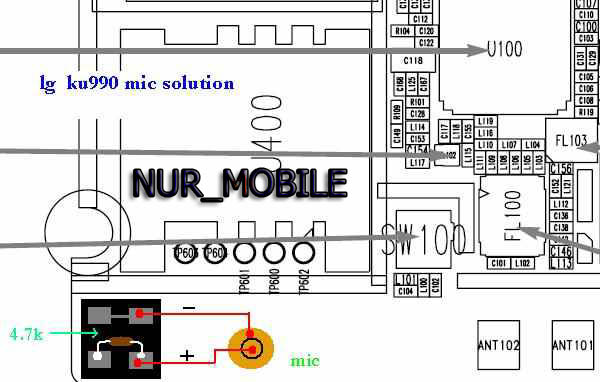 mobile tips  lg ku 990 mic jumper solution
