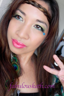 hippie flower child makeup  haireasy halloween looks