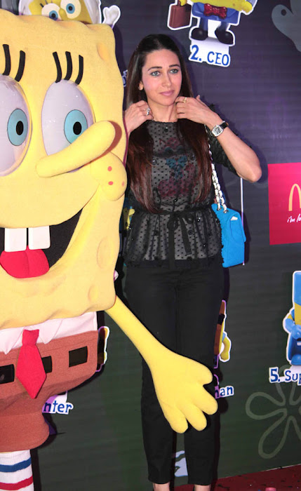karisma kapoor launches spongebob squarepants happy meal hot photoshoot