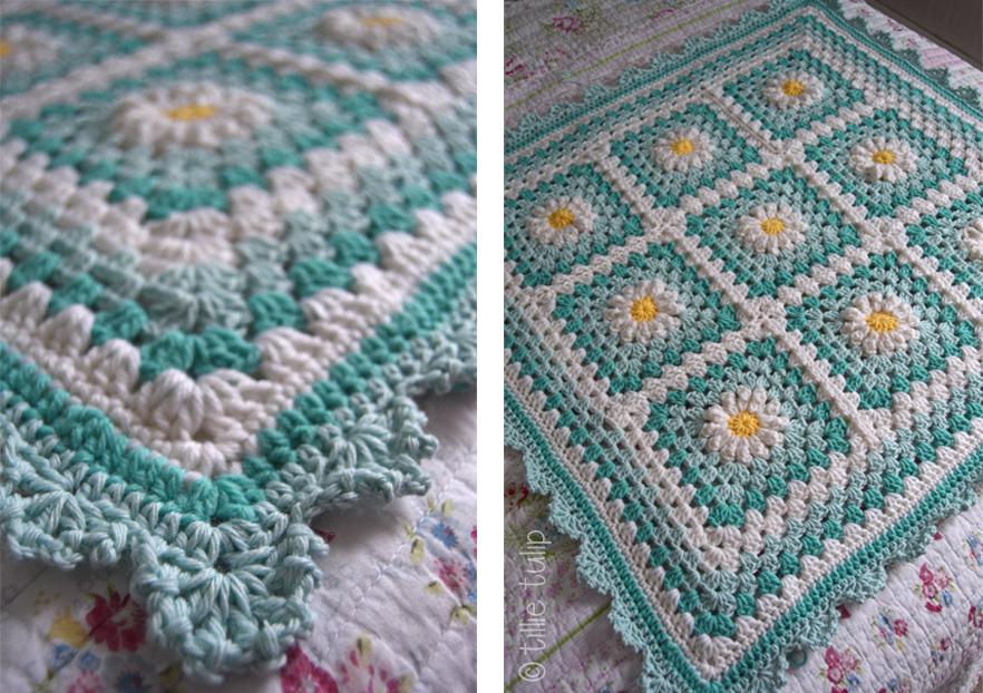 Free Crochet Pattern For Daisy Blanket : tillie tulip - a handmade mishmosh: January 2016