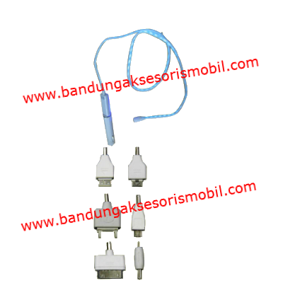 Charging BB Putih+Kabel Lampu Led