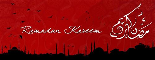 Unique Ramadan Images For FB Cover: Ramadan Kareem Mubarak Cover With Red Color