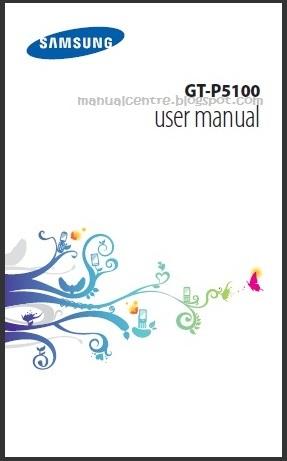 Samsung Galaxy Tab 2 10.1 P5100 Manual Cover