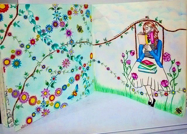 flor azul jardim secreto: : Saiba um pouco sobre o Jardim Secreto e Floresta Encantada
