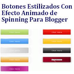 Botones Estilizados con efecto animado spinning