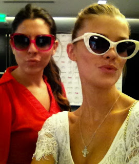 Elite Model Nina Agdal wearing Elizabeth and James Benedict sunglasses
