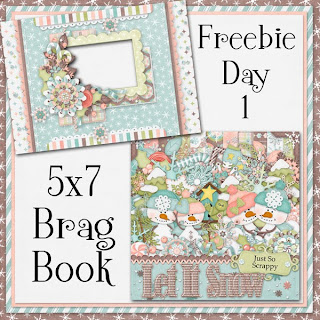 Let It Snow 5x7 Brag Book Freebie Day 1