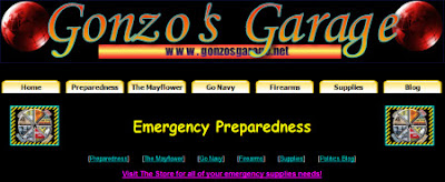 Gonzo's Garage - Emergency Preparedness Page