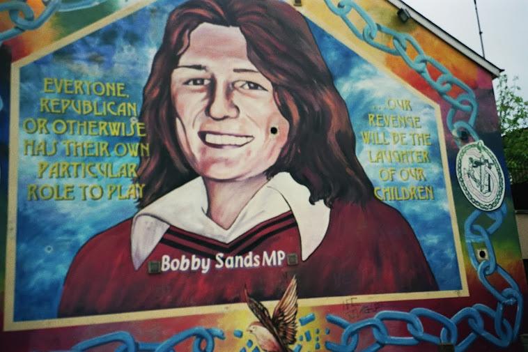 Fascinatedbyirishhistory mural bobby sands falls road for Bobby sands mural belfast