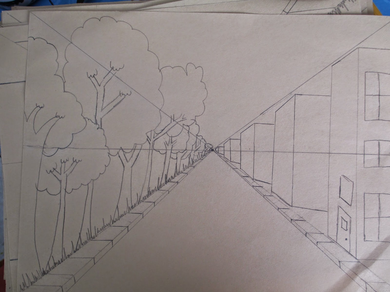 Straight Line Design Art : Mc school art th grade one point perspective drawing