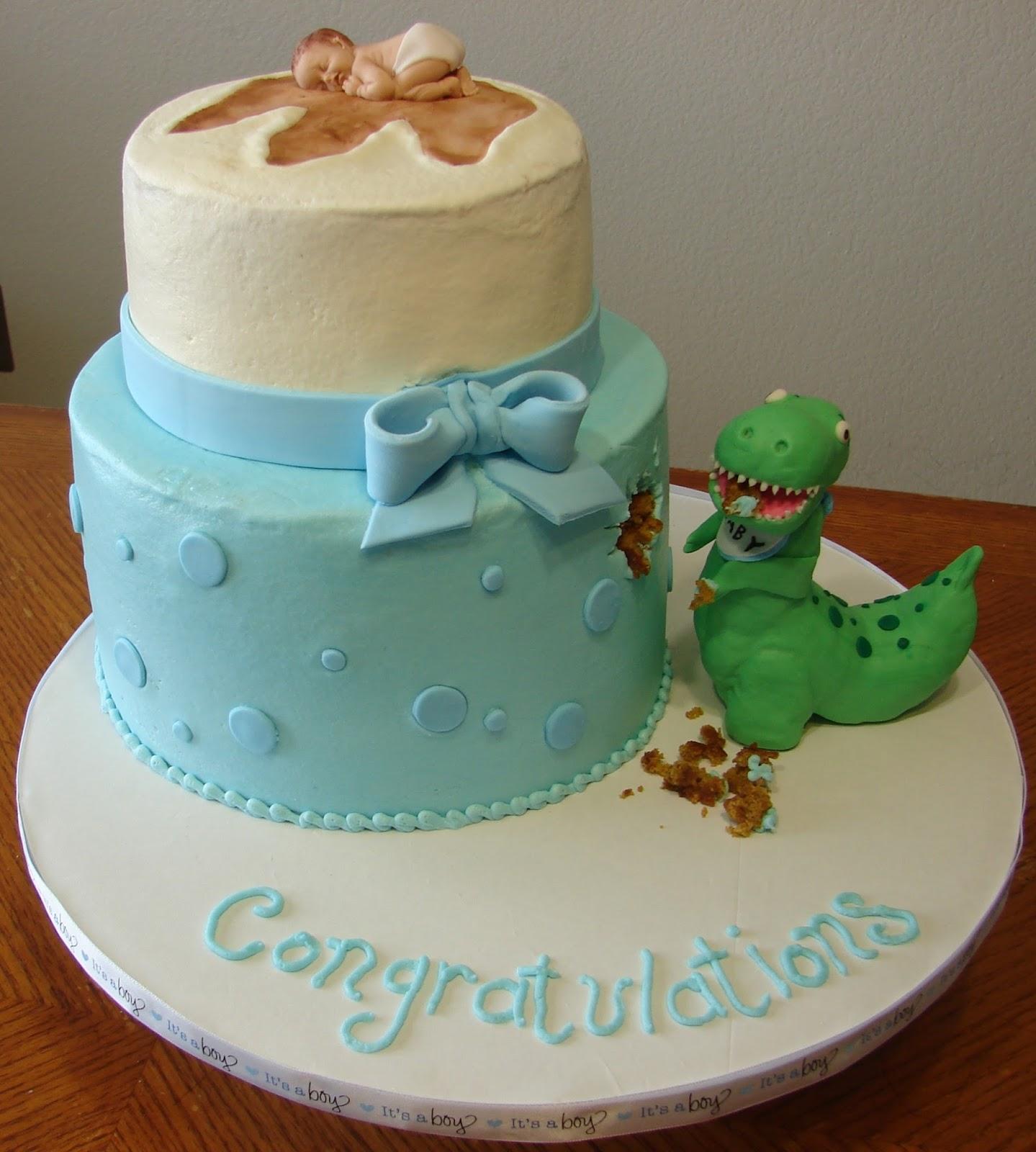 My Cake Hobby Dinosaur Baby Shower Cake
