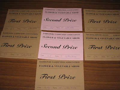 flower and vegetable show prize cards