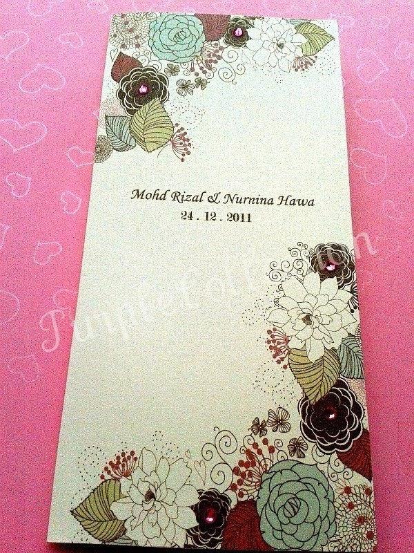 Handmade malay wedding invitation card kad jemputan kahwin imaxx stopboris Choice Image