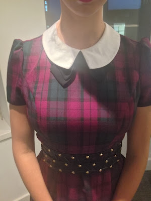 Primark Tartan Collar Bow Dress