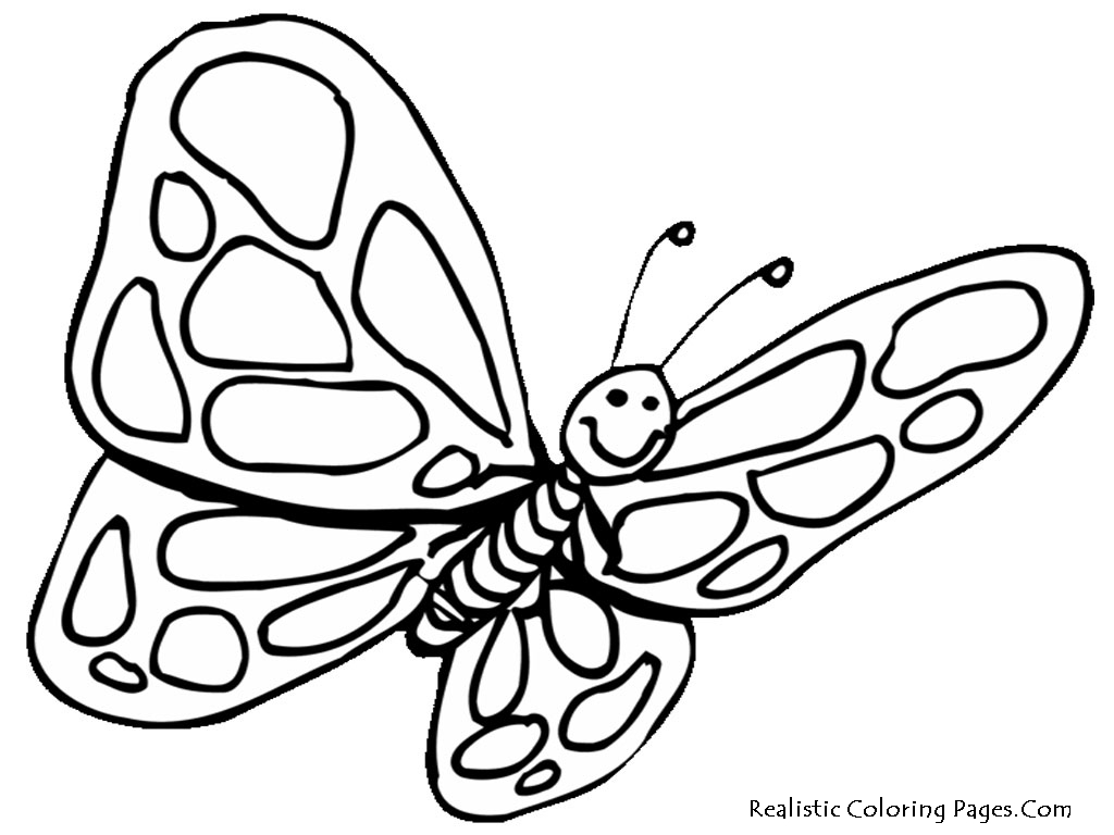 realistic butterflies coloring pages - photo#32