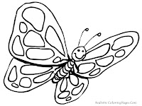 Free Butterfly Coloring Pages For Preschool