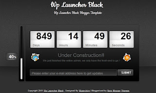 Wp Launcher Black Blogger Template